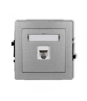DECO Mechanizm gniazda telefonicznego pojedynczego 1xRJ11, 4-stykowy, beznarzędziowe Karlik 7DGT-1