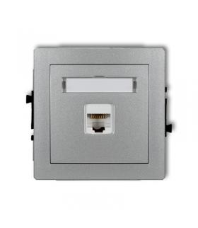 DECO Mechanizm gniazda komputerowego pojedynczego 1xRJ45, kat. 5e, ekranowane, 8-stykowy Karlik 7DGK-1e