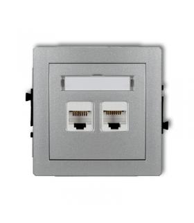 DECO Mechanizm gniazda komputerowego podwójnego 2xRJ45, kat. 5e, 8-stykowy Karlik 7DGK-2