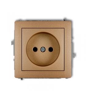 DECO Mechanizm gniazda pojedynczego bez uziemienia 2P (przesłony torów prądowych) Karlik 8DGP-1p