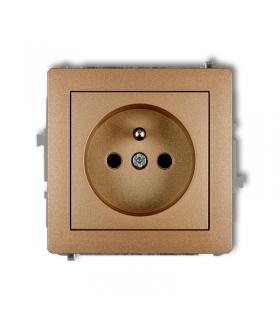 DECO Mechanizm gniazda pojedynczego z uziemieniem 2P+Z (przesłony torów prądowych) Karlik 8DGP-1zp