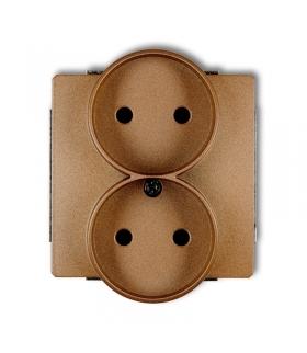 DECO Mechanizm gniazda podwójnego do ramki bez uziemienia 2x2P Karlik 8DGPR-2