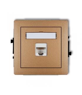 DECO Mechanizm gniazda komputerowego pojedynczego 1xRJ45, kat. 5e, ekranowane, 8-stykowy Karlik 8DGK-1e