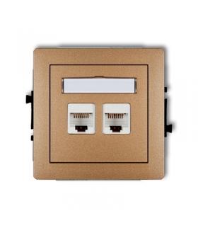 DECO Mechanizm gniazda komputerowego podwójnego 2xRJ45, kat. 5e, 8-stykowy Karlik 8DGK-2