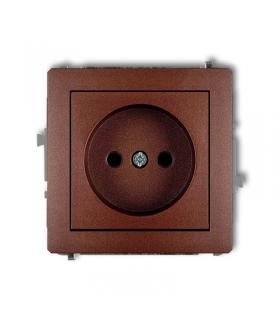 DECO Soft Mechanizm gniazda pojedynczego bez uziemienia 2P (przesłony torów prądowych) Karlik 9DGP-1p