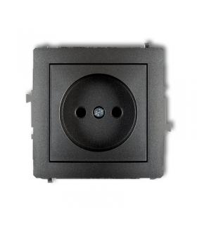 DECO Soft Mechanizm gniazda pojedynczego bez uziemienia 2P (przesłony torów prądowych) Karlik 11DGP-1p