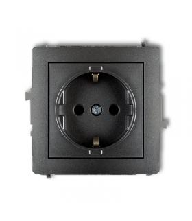 DECO Mechanizm gniazda pojedynczego z uziemieniem SCHUKO 2P+Z (przesłony torów prądowych) Karlik 11DGP-1sp