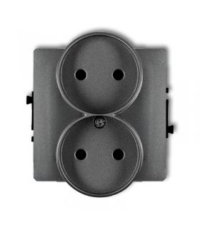 DECO Mechanizm gniazda podwójnego do ramki bez uziemienia 2x2P Karlik 11DGPR-2
