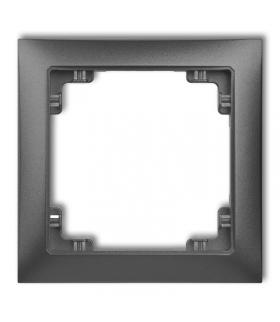 DECO Ramka uniwersalna pojedyncza z tworzywa DECO Soft Karlik 11DRSO-1