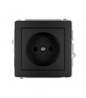 DECO Soft Mechanizm gniazda pojedynczego bez uziemienia 2P (przesłony torów prądowych) Karlik 12DGP-1p