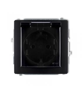 DECO Mechanizm gniazda bryzgoszczelnego z uziemieniem SCHUKO 2P+Z (klapka dymna, przesłony torów prądowych) Karlik 12DGPB-1sdp