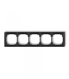 DECO Ramka uniwersalna pięciokrotna z tworzywa DECO Soft Karlik 12DRSO-5