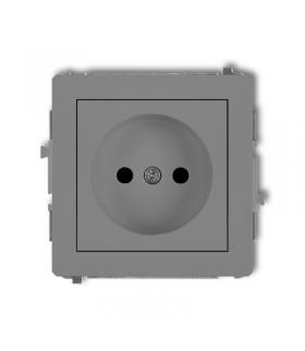DECO Soft Mechanizm gniazda pojedynczego bez uziemienia 2P (przesłony torów prądowych) Karlik 27DGP-1p