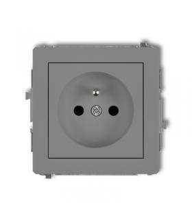 DECO Mechanizm gniazda pojedynczego z uziemieniem 2P+Z (przesłony torów prądowych) Karlik 27DGP-1zp