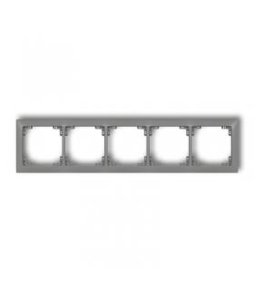 DECO Ramka uniwersalna pięciokrotna z tworzywa DECO Soft Karlik 27DRSO-5