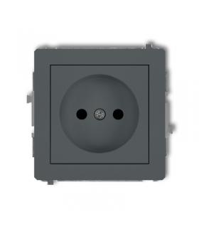 DECO Soft Mechanizm gniazda pojedynczego bez uziemienia 2P (przesłony torów prądowych) Karlik 28DGP-1p