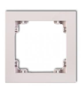 DECO Ramka uniwersalna pojedyncza z tworzywa DECO Pastel Matt Karlik 40DR-1