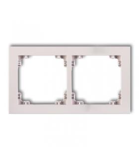 DECO Ramka uniwersalna podwójna z tworzywa DECO Pastel Matt Karlik 40DR-2