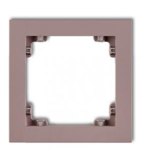 DECO Ramka uniwersalna pojedyncza z tworzywa DECO Pastel Matt Karlik 42DR-1