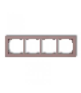 DECO Ramka uniwersalna podczwórna z tworzywa DECO Pastel Matt Karlik 42DR-4