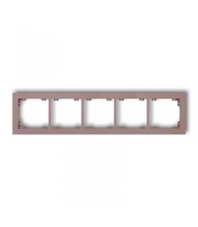 DECO Ramka uniwersalna pięciokrotna z tworzywa DECO Pastel Matt Karlik 42DR-5