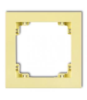 DECO Ramka uniwersalna pojedyncza z tworzywa DECO Pastel Matt Karlik 43DR-1