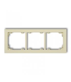 DECO Ramka uniwersalna potrójna z tworzywa DECO Pastel Matt Karlik 44DR-3