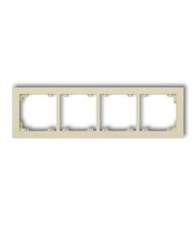 DECO Ramka uniwersalna podczwórna z tworzywa DECO Pastel Matt Karlik 44DR-4