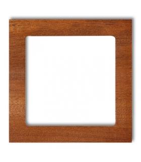 DECO Ramka uniwersalna pojedyncza- drewno (mahoń) Karlik DRD-1D
