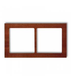 DECO Ramka uniwersalna podwójna- drewno (mahoń) Karlik DRD-2D