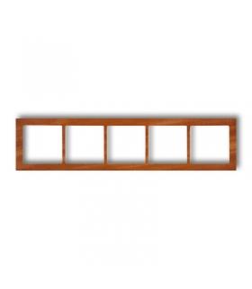 DECO Ramka uniwersalna pięciokrotna - drewno (mahoń) Karlik DRD-5D