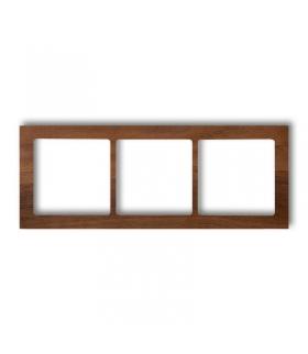 DECO Ramka uniwersalna potrójna - drewno (orzech amerykański) Karlik DRD-3E