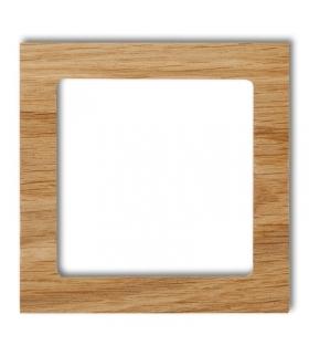 DECO Ramka uniwersalna pojedyncza - drewno (dąb) Karlik DRD-1F