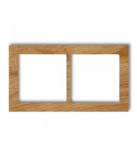 DECO Ramka uniwersalna podwójna - drewno (dąb) Karlik DRD-2F