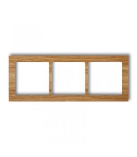 DECO Ramka uniwersalna potrójna - drewno (dąb) Karlik DRD-3F