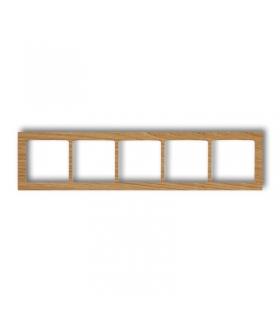 DECO Ramka uniwersalna pięciokrotna- drewno (dąb) Karlik DRD-5F
