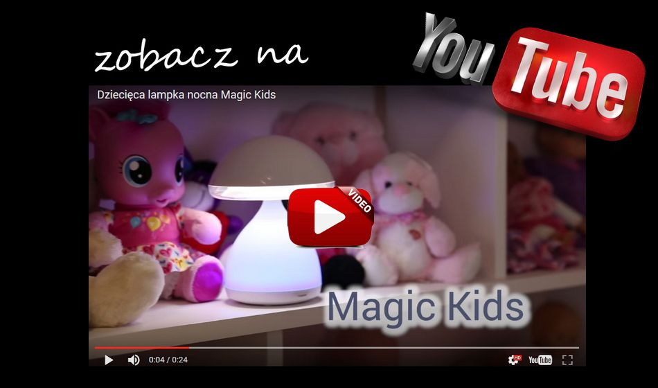 Dziecięca lampka nocna Magic Kids LED 3,5W E DOMUS