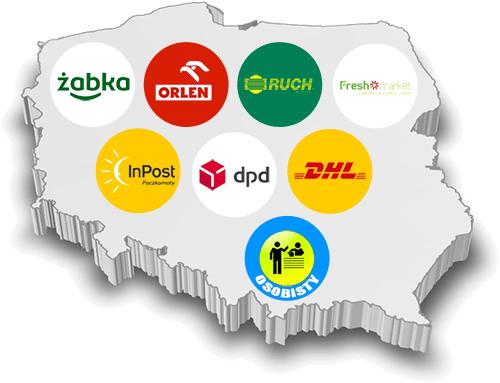 mapka typu dostawy