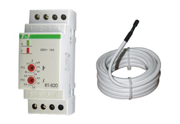 Regulator temperatury RT-821 z sondą do systemów przeciwoblodzeniowych